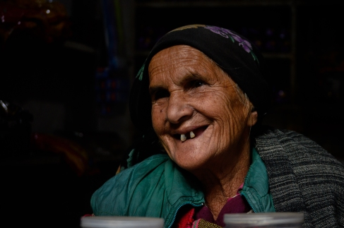 This old lady is 89 years old, having a local shop in Manikaran, Himachal Pradesh.